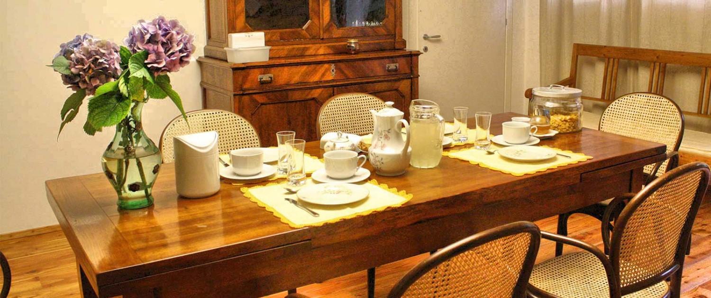 sala pranzo colazioni b&b dolomiti trichiana belluno orto alpino