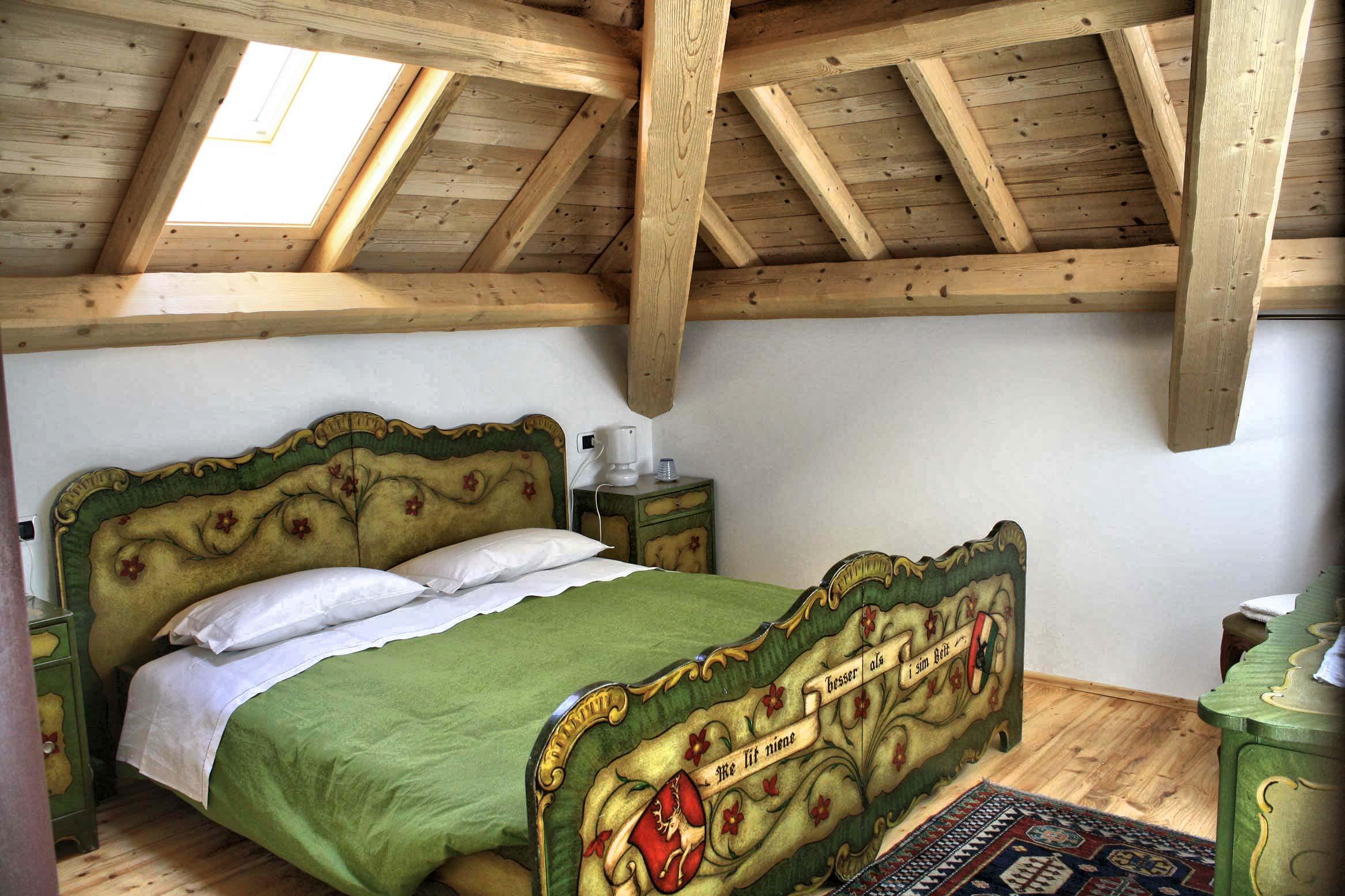 camera matrimoniale bavarese b&b trichiana belluno orto alpino