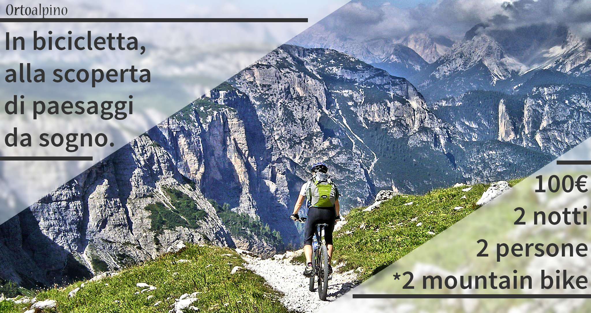 prealpi in mountain bike offerta weekend luglio estate b&b belluno dolomiti orto alpino